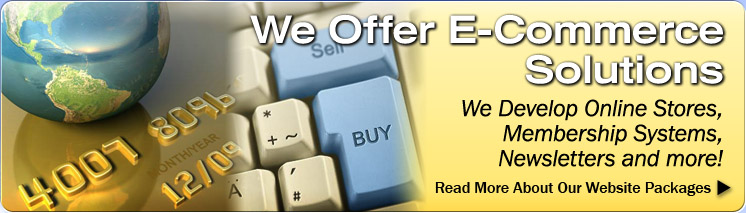 We Offer E-Commerce Solutions