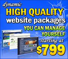 High Quality Website Packages You Can Manage Yourself Staring At $799